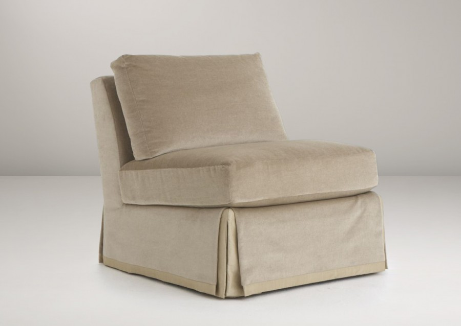 st claire skirted slipper chair